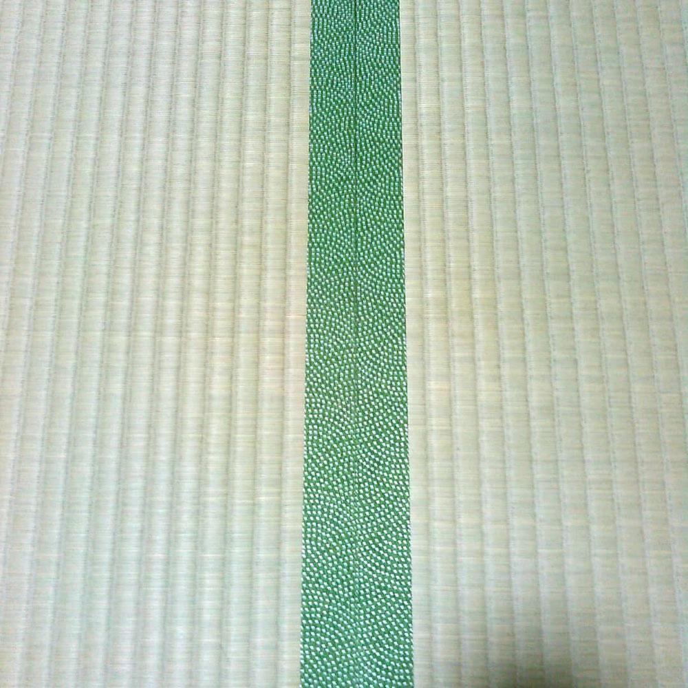 熊本産表、鮫小紋柄の縁を使用しました。