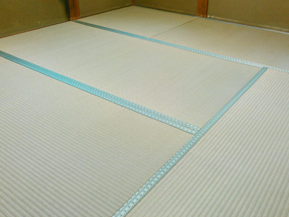 畳縁 鯔背No50 麻柄で、裏返ししました。