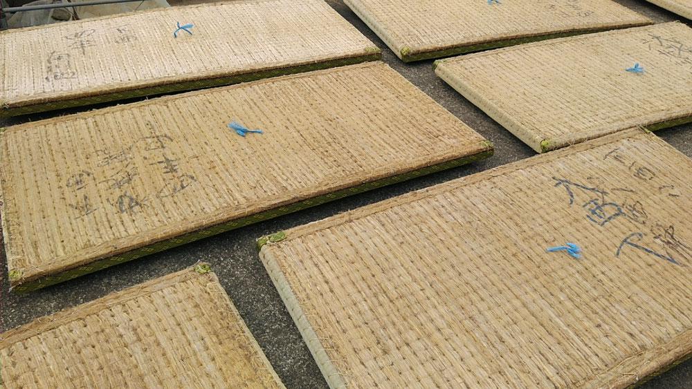 二宮町賃貸物件の畳をお預かりしまして、日干ししました。