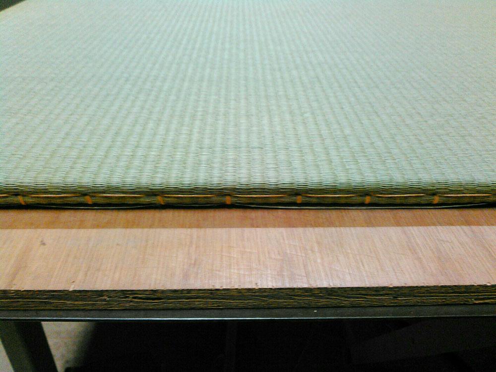 縁無し薄畳15㎜仕上がりの新畳です。