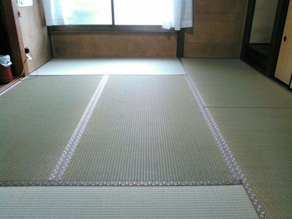 新畳を納品後です。