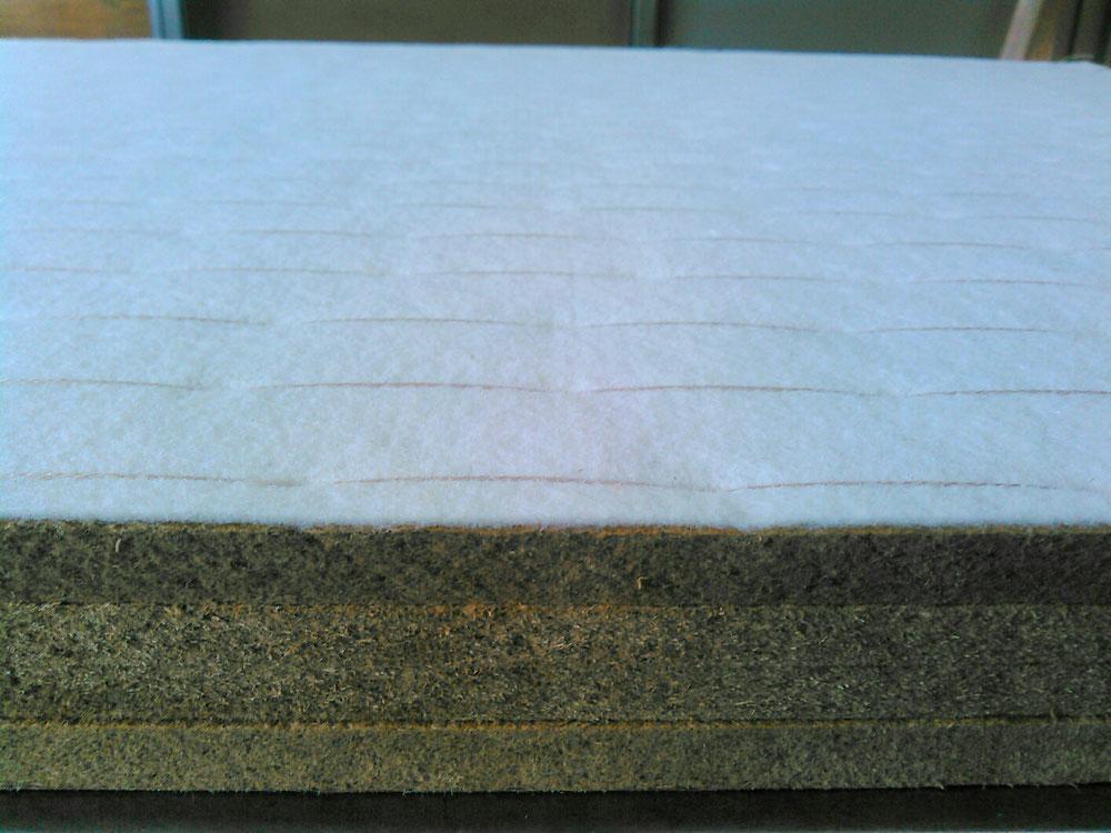 新畳の材料の建材床 軽量ボード 2㎜クッション入りです。