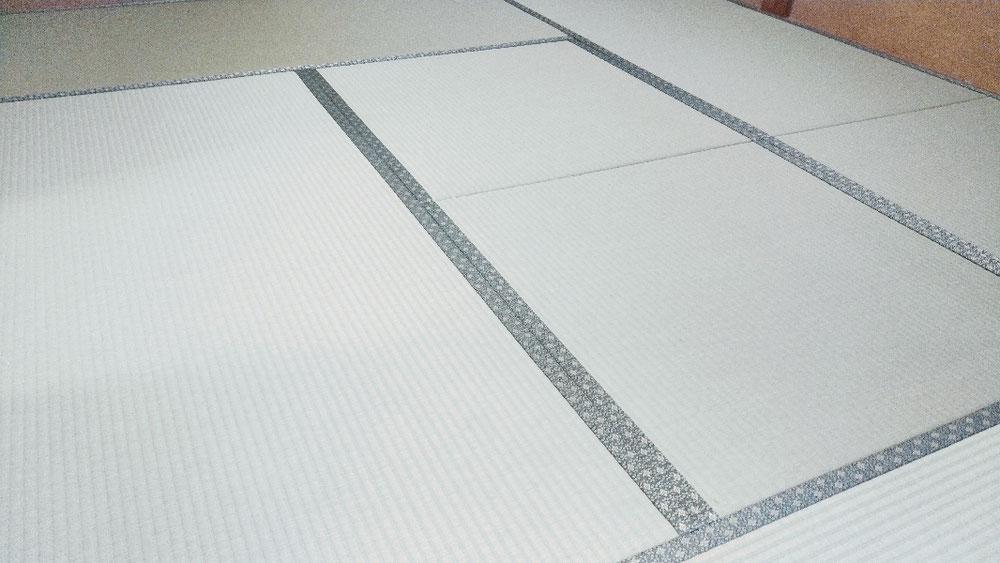 軽量ボード床、セキスイ美草を使用して新畳を納品しました。