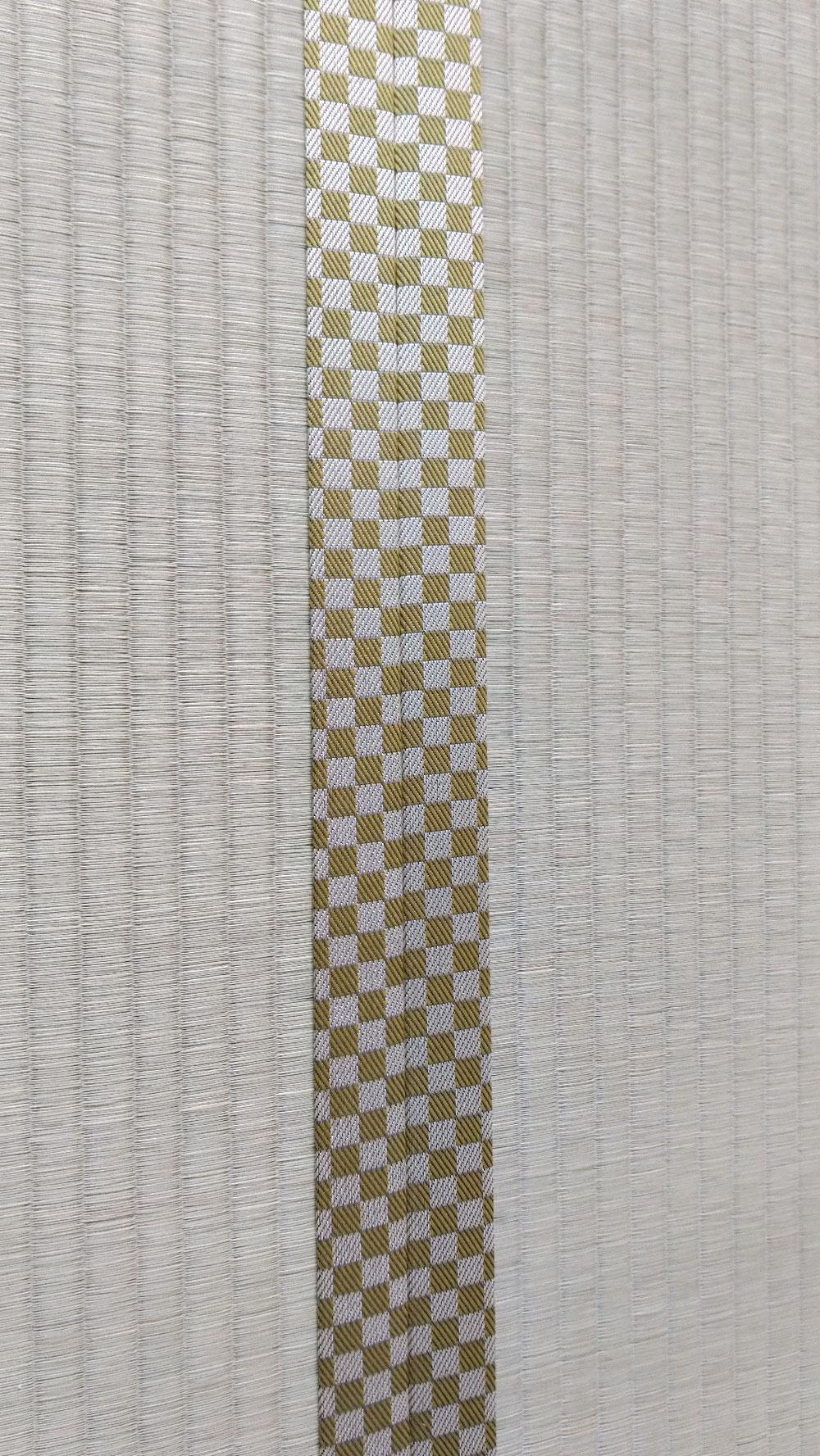 熊本産表、市松柄の畳縁です。(ルーミーNo41)