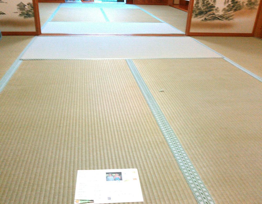 畳縁 鯔背No50 熊本産麻綿Wひのはるかで表替えしました。