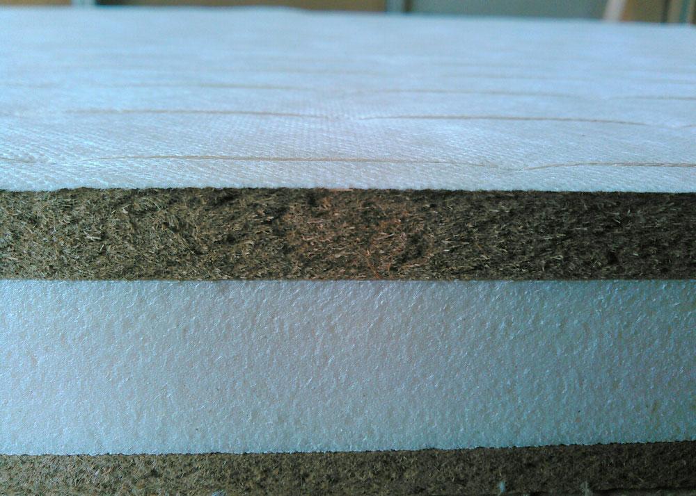 新畳の材料の建材床です。