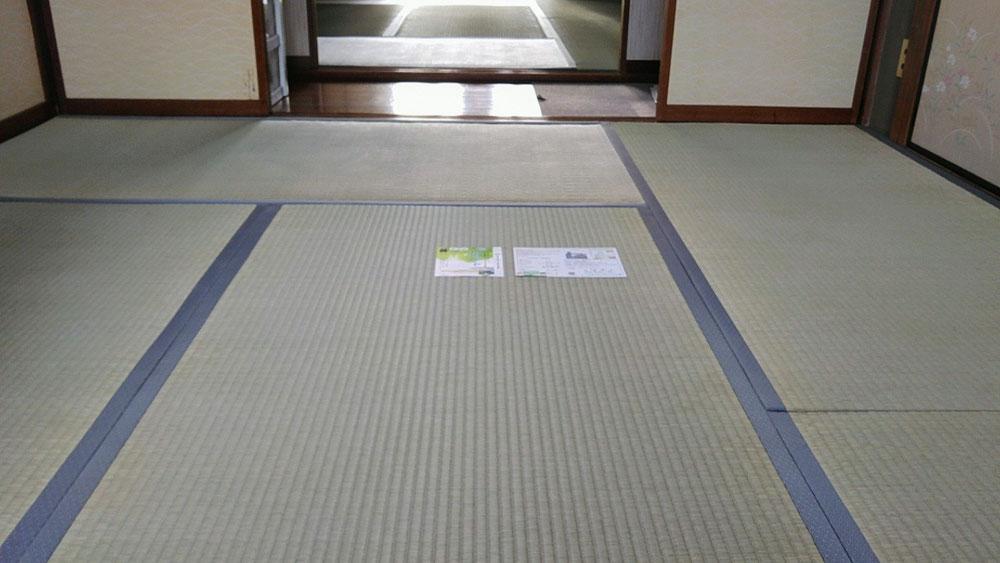 2階を熊本産表で、畳替えしました。