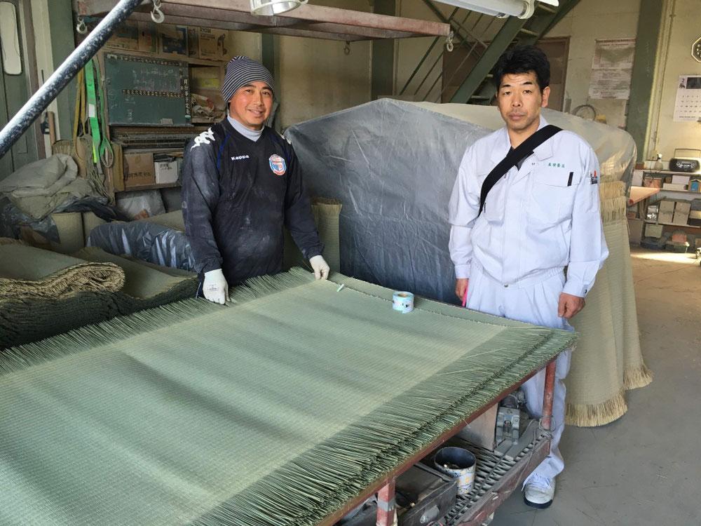 当店で、使用している畳表の生産者の江嶋さんです。