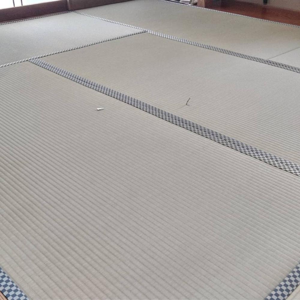 くまもとJAブランド畳表、畳縁 ルーミーⅣ No43を使用して畳替えしました。