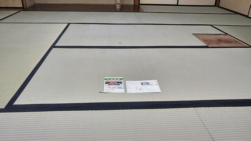 二宮町のお客様へ、お茶室新畳納品しました。