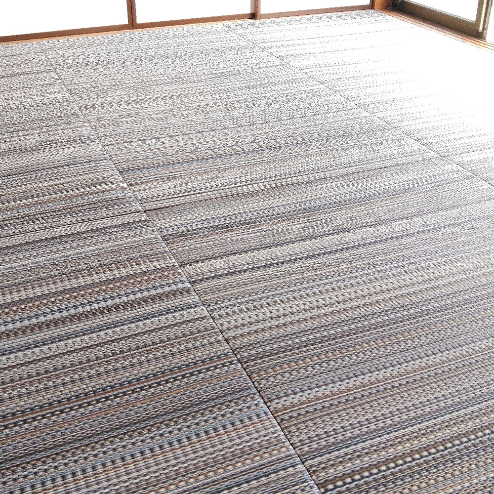 セキスイ美草 アースカラー No3 ジオの縁無し新畳です。