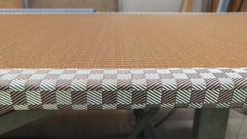 薄畳に、セキスイMIGUSAダークブラウン表を使用しました。