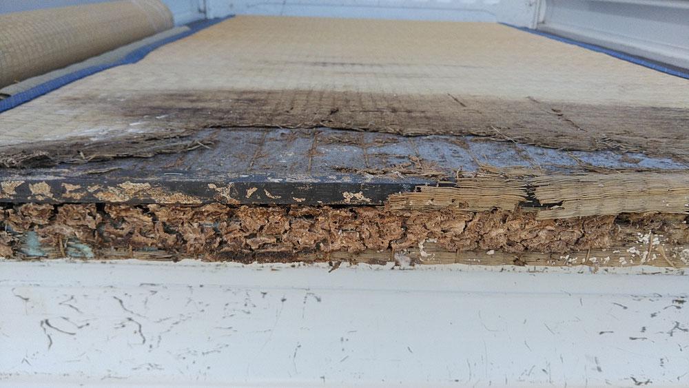 シロアリ被害の畳です。