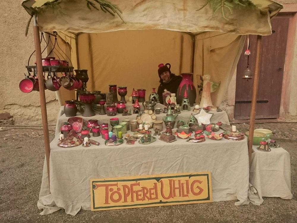 Angebot zum Weihnachtsmarkt in wolkenburg.  Tag eins