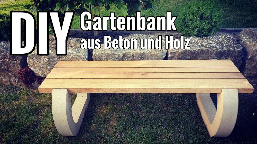 Eine Gartenbank aus Beton und Holz selber bauen