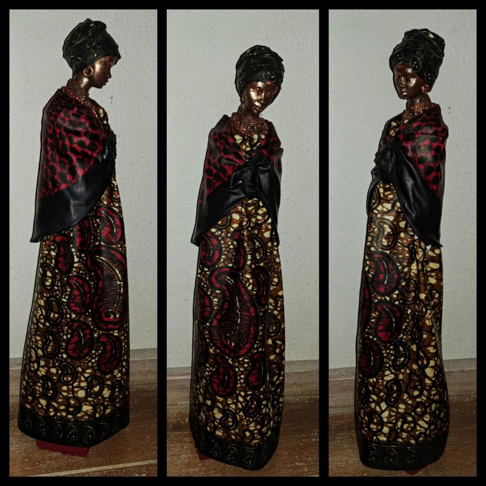 Afrikaanse vrouw, Mixed media, €.85,= Verkocht!