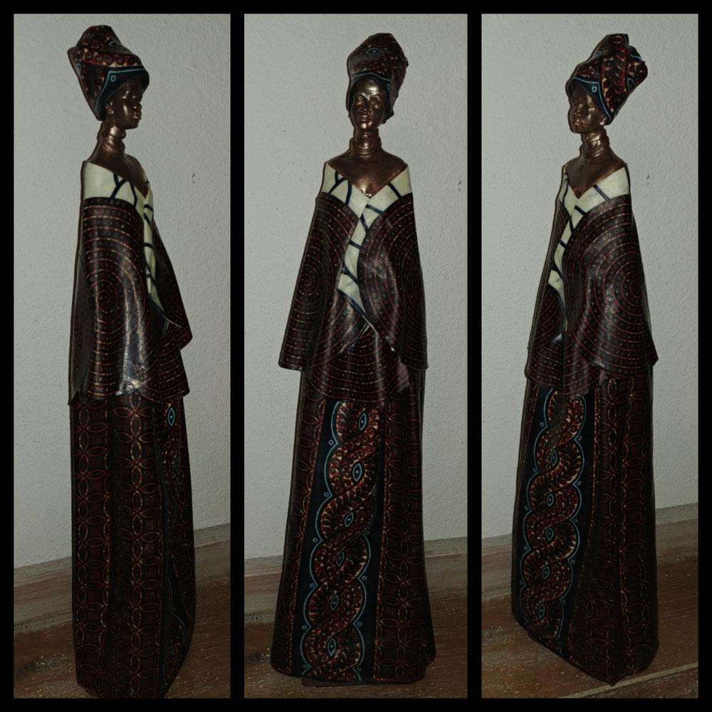 Afrikaanse vrouw, mixed media, Verkocht!
