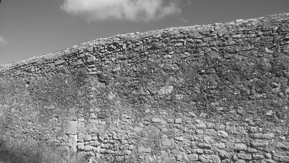 Mauer von St. Paul de Mausole von außen
