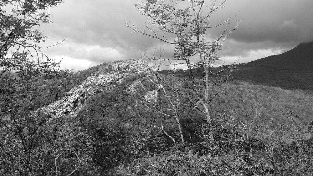 Landschaft an der oberen Rhone