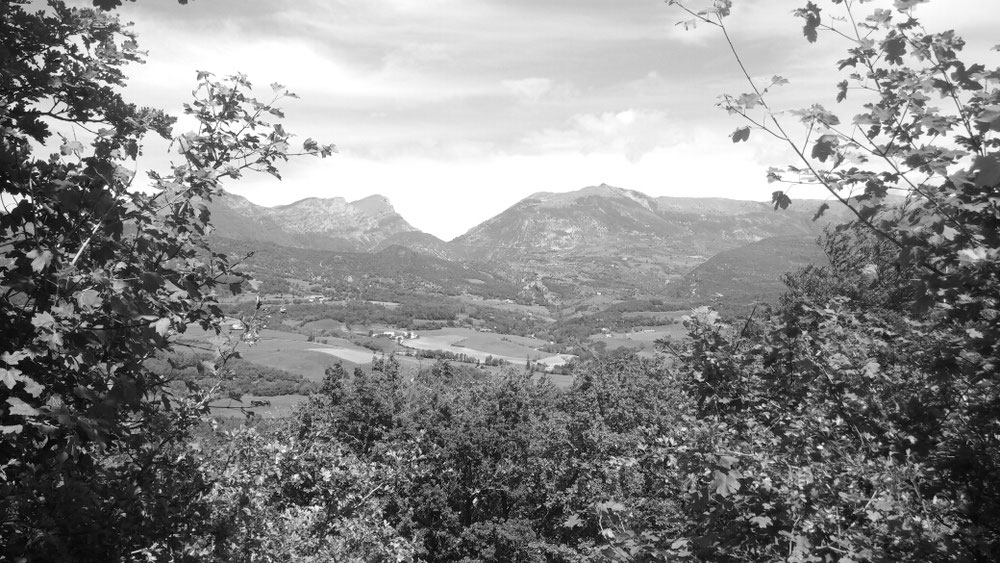 Rückblick auf den Pass La Chaudiere