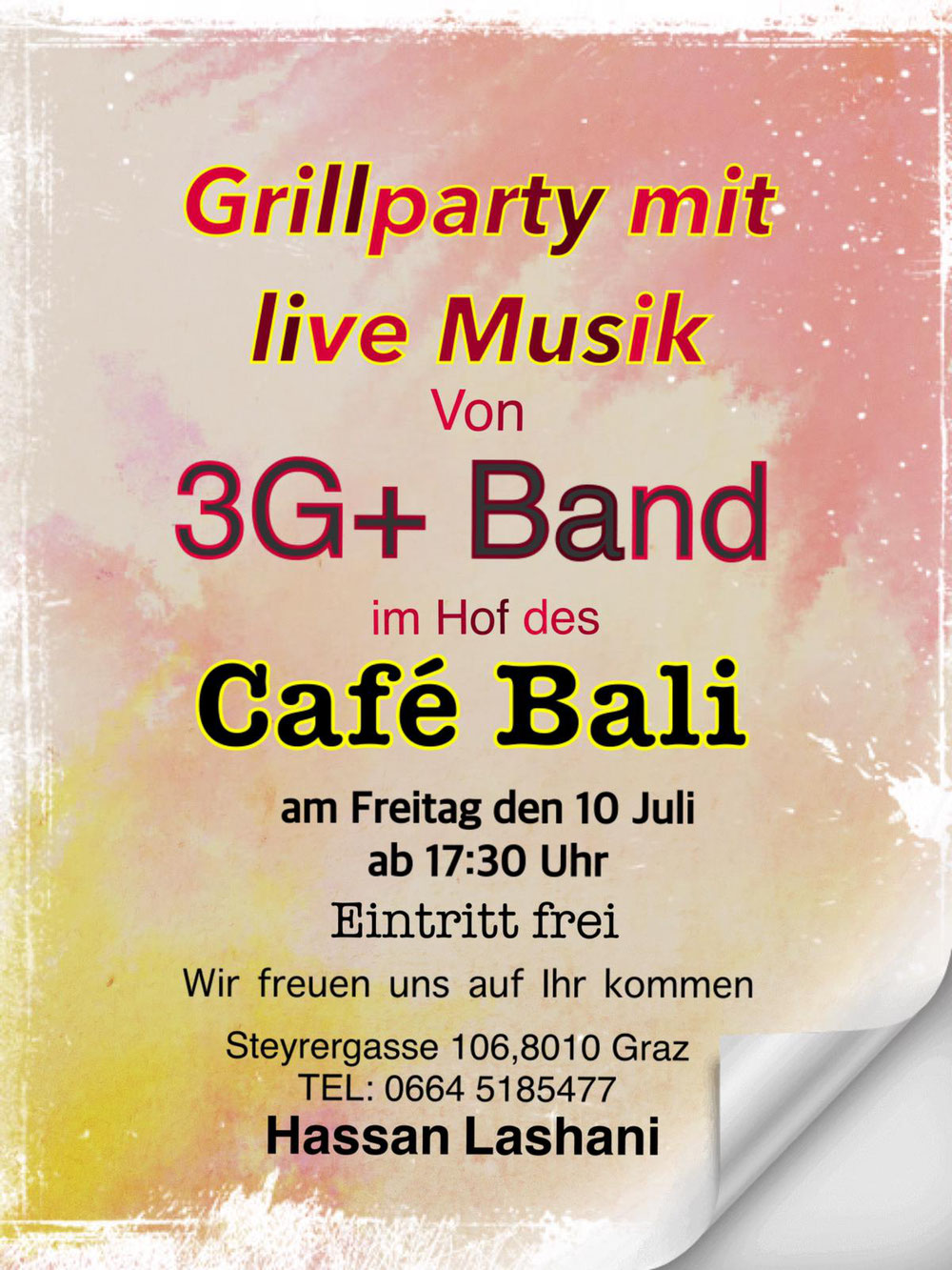 Grillparty im Cafe Bali