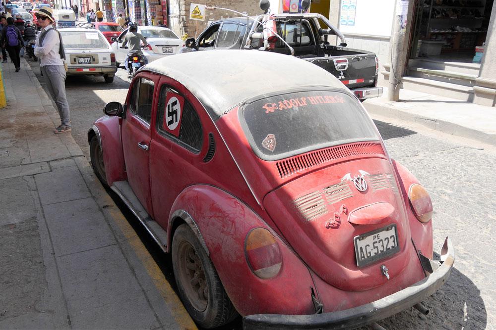 Ich glaub ich träume! Was für ein Scheiss in Ayacucho... Ayacucho, Peru (Foto Jörg Schwarz)