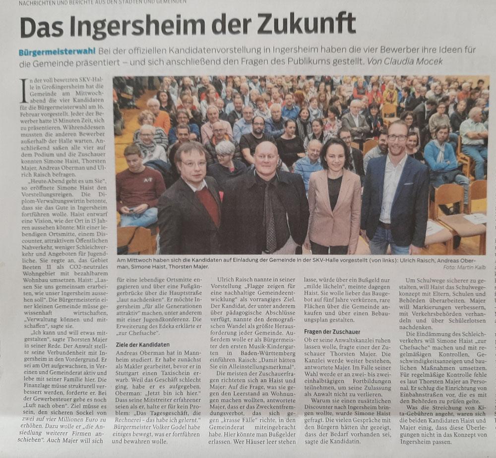 Bietigheimer Zeitung, 7. Februar 2020