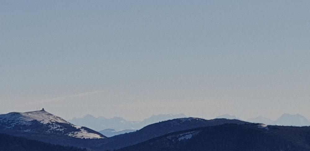 Alpen in der Ferne