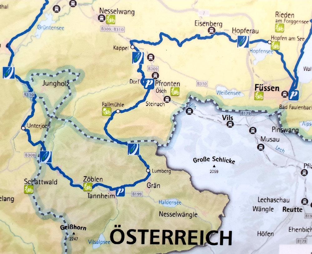 Etappe 7 -Zurück nach Füssen durch die Alpen