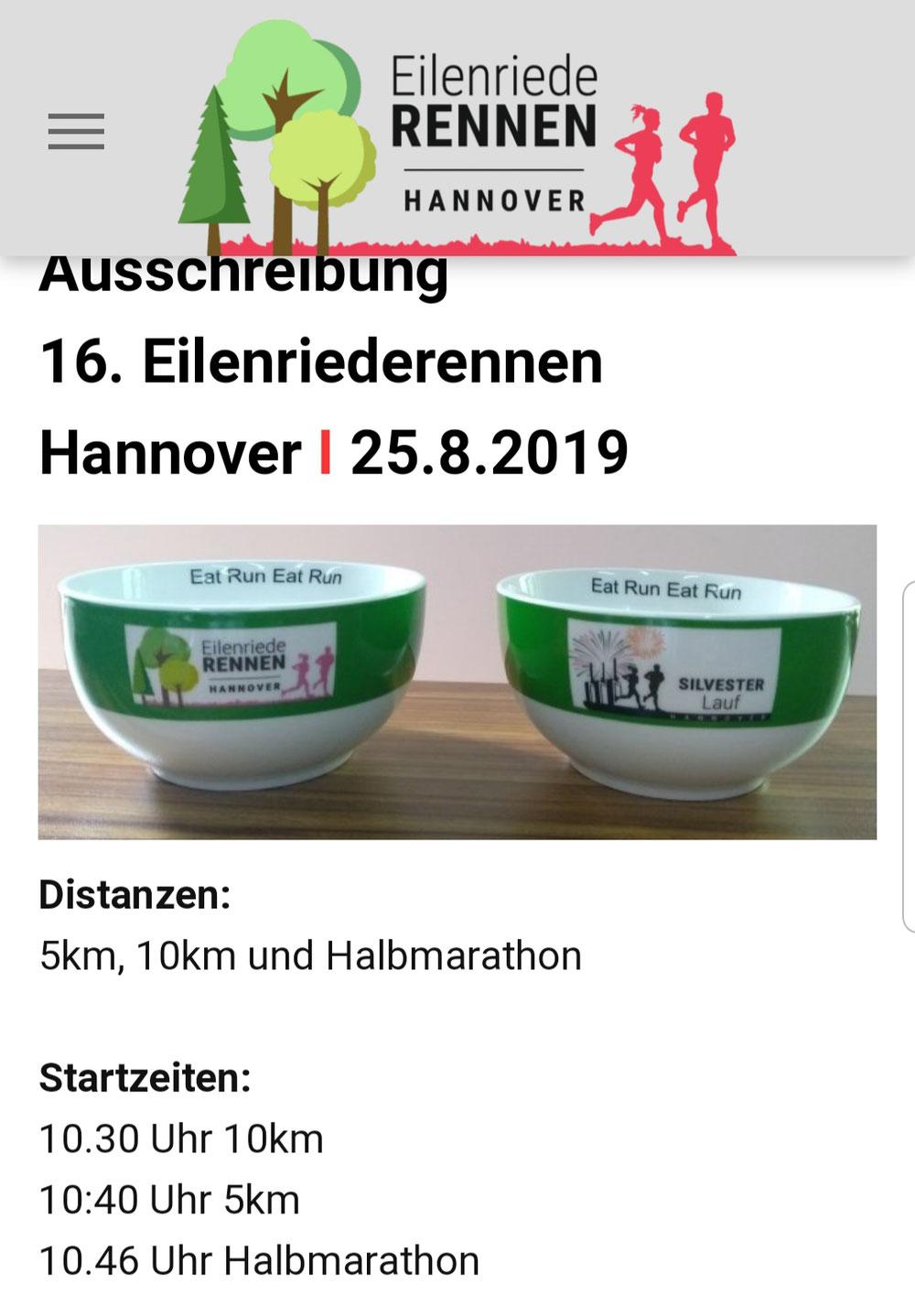 Eilenriederennen am 25.08.2019 in Hannover