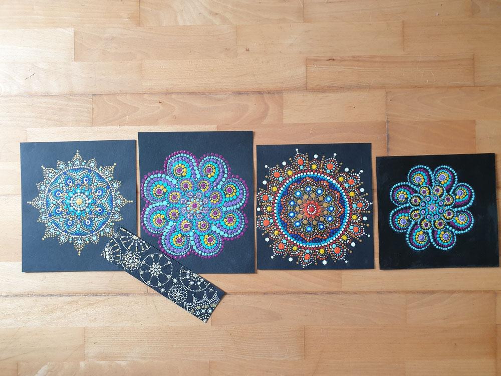 Mandalas,  ich male sie gern im Auftrag . Einfach eine Nachricht schreiben 💛🧡❤💙💜💚