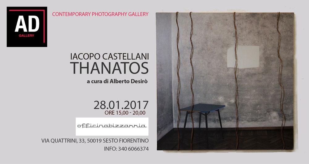 Iacopo Castellani Thanatos a cura di Alberto Desirò per AD Gallery