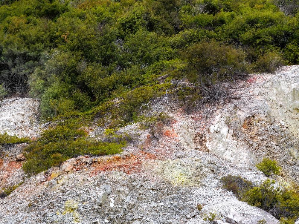 Verfärbungen durch Mineralien