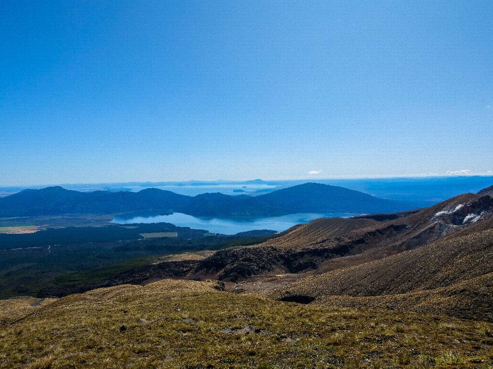 Blick zum Lake Taupo.