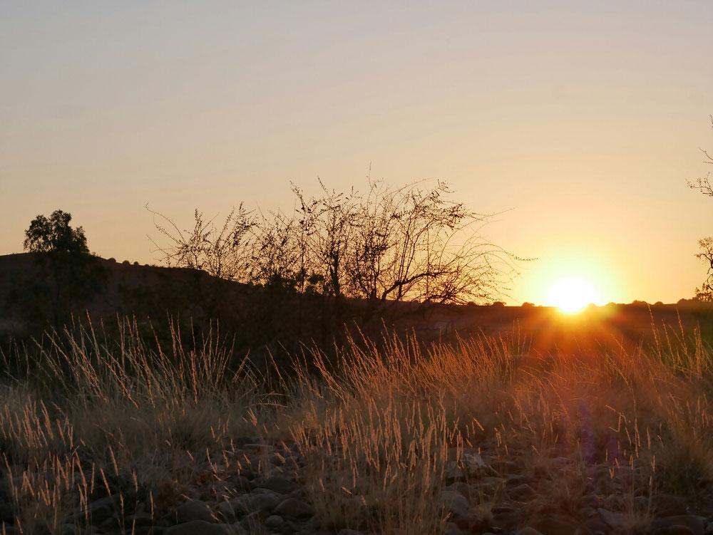 Sonnenuntergang auf dem Camper