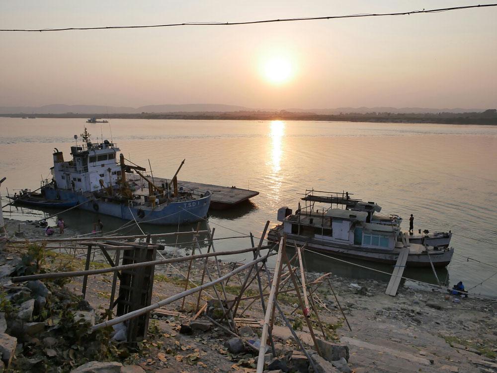sunset & river