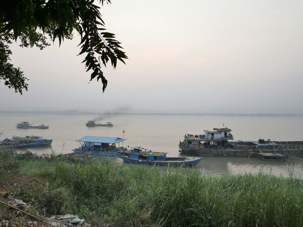 Sunset View unser erster Stop in Mandalay