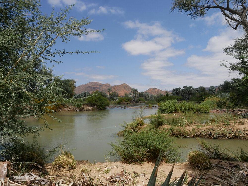 Toller Blick auf den Fluss von unserer Campside aus