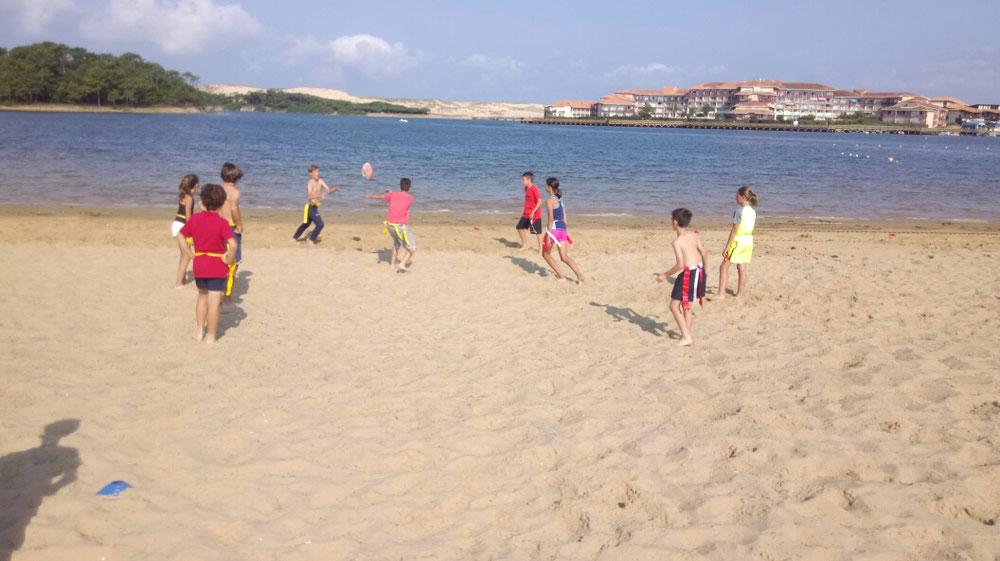 Rugby flag sur la plage