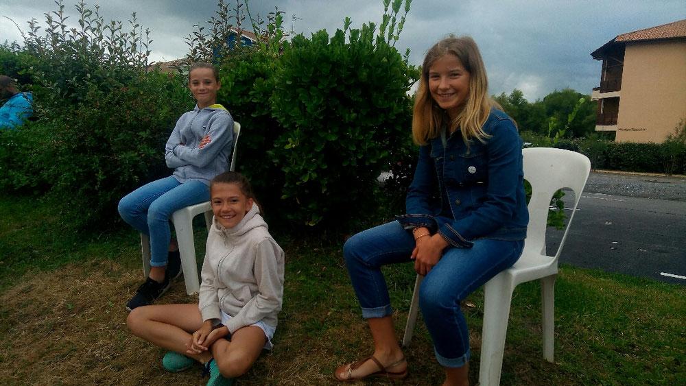 Toutes les filles sont venues supporter le dernier match d'Elisa !