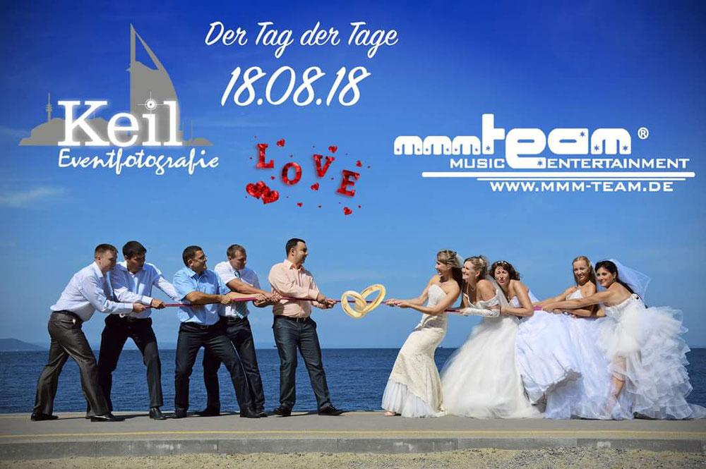 Das Datum 2018! Der 18.08.18!! Heute begleiten wir dir Trauung von Jasmin und Sebastian in Loxstedt. Das Wetter ist ein Traum und wir sind gespannt auf das Brautpaar.