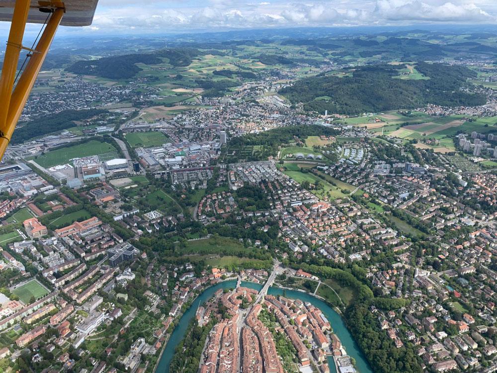 über der Hauptstadt Bern