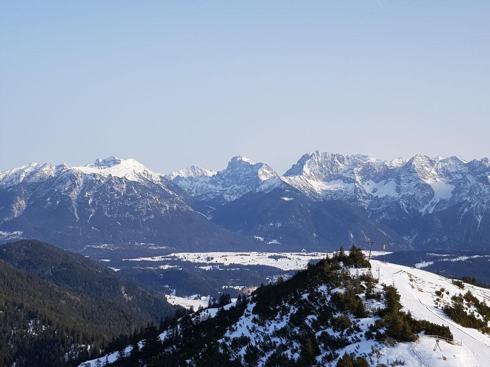 Blick vom Wankhaus in Richtung Karwendel