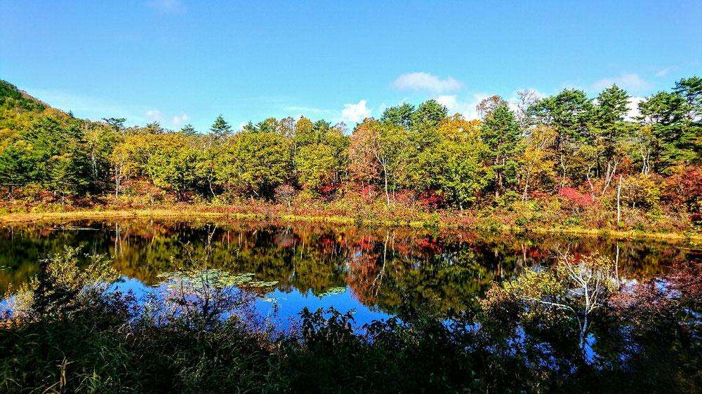 志賀高原の秋、1の池
