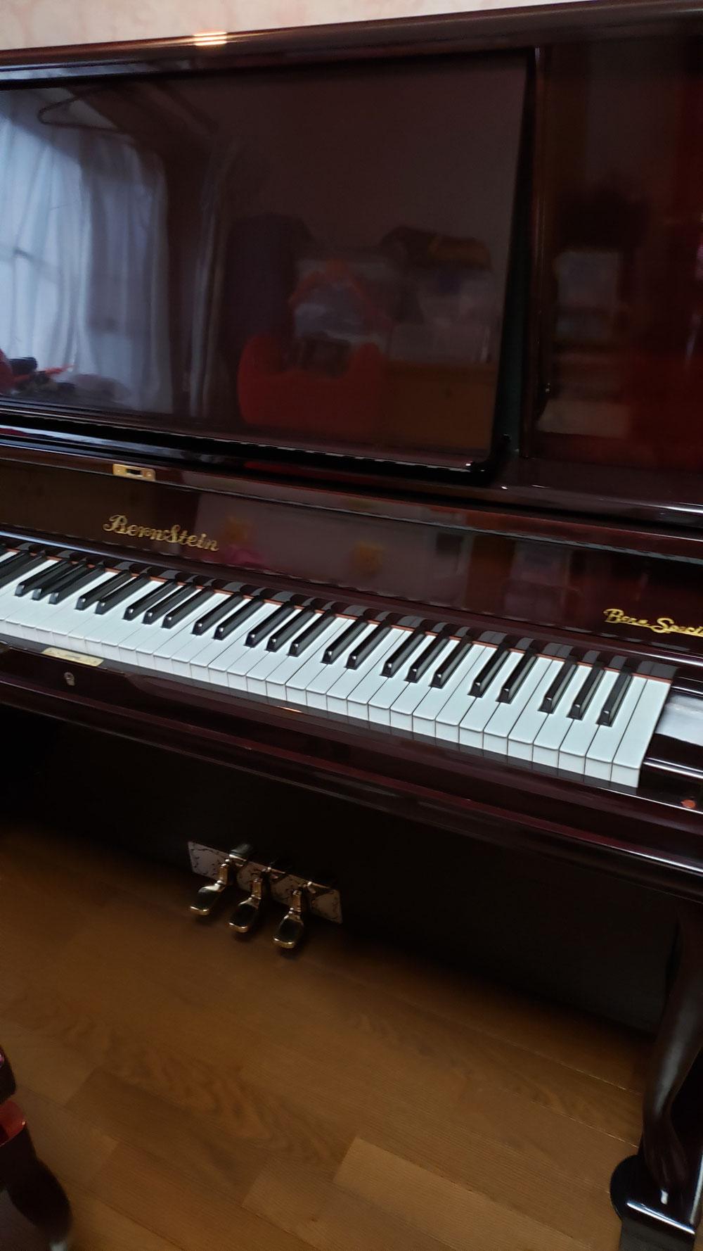 大切な思い出ある、ピアノがこの通りピカピカ