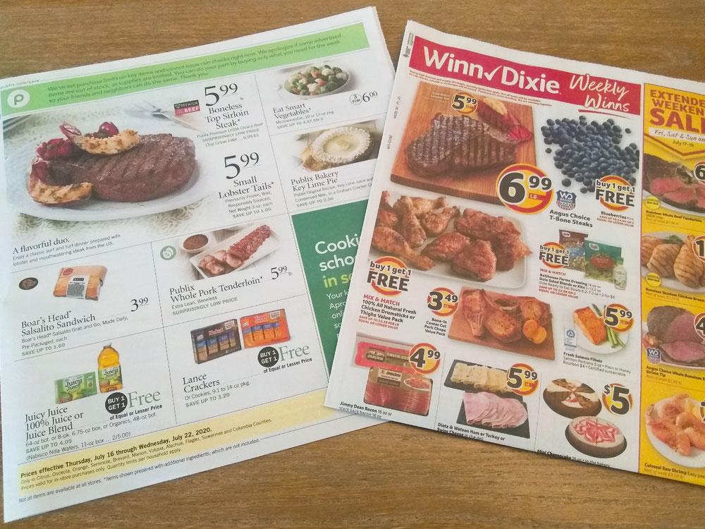 スーパーの広告チラシ