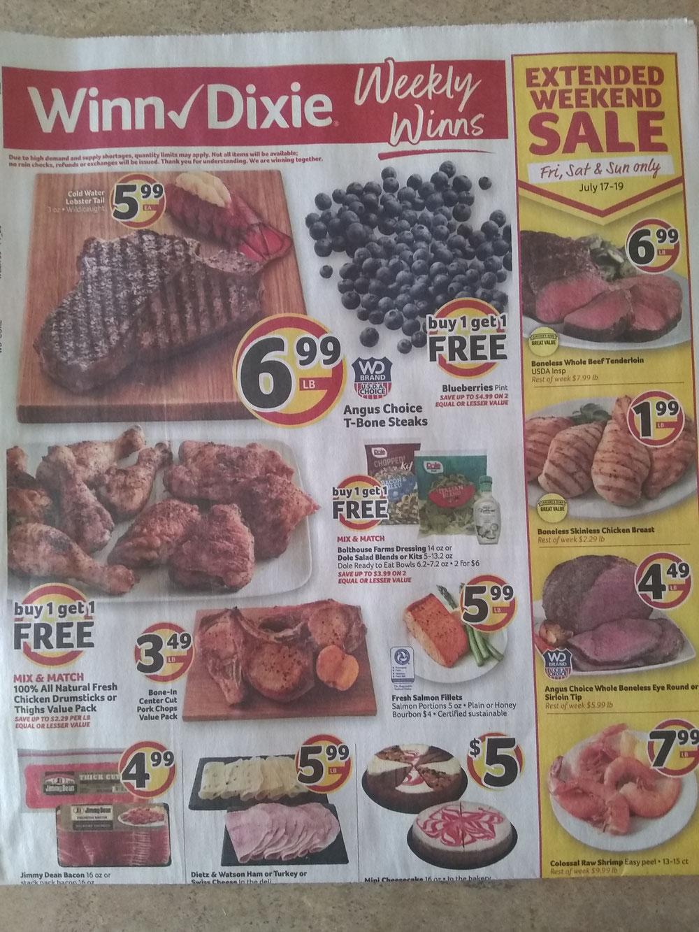 Winn Dixieの広告チラシ