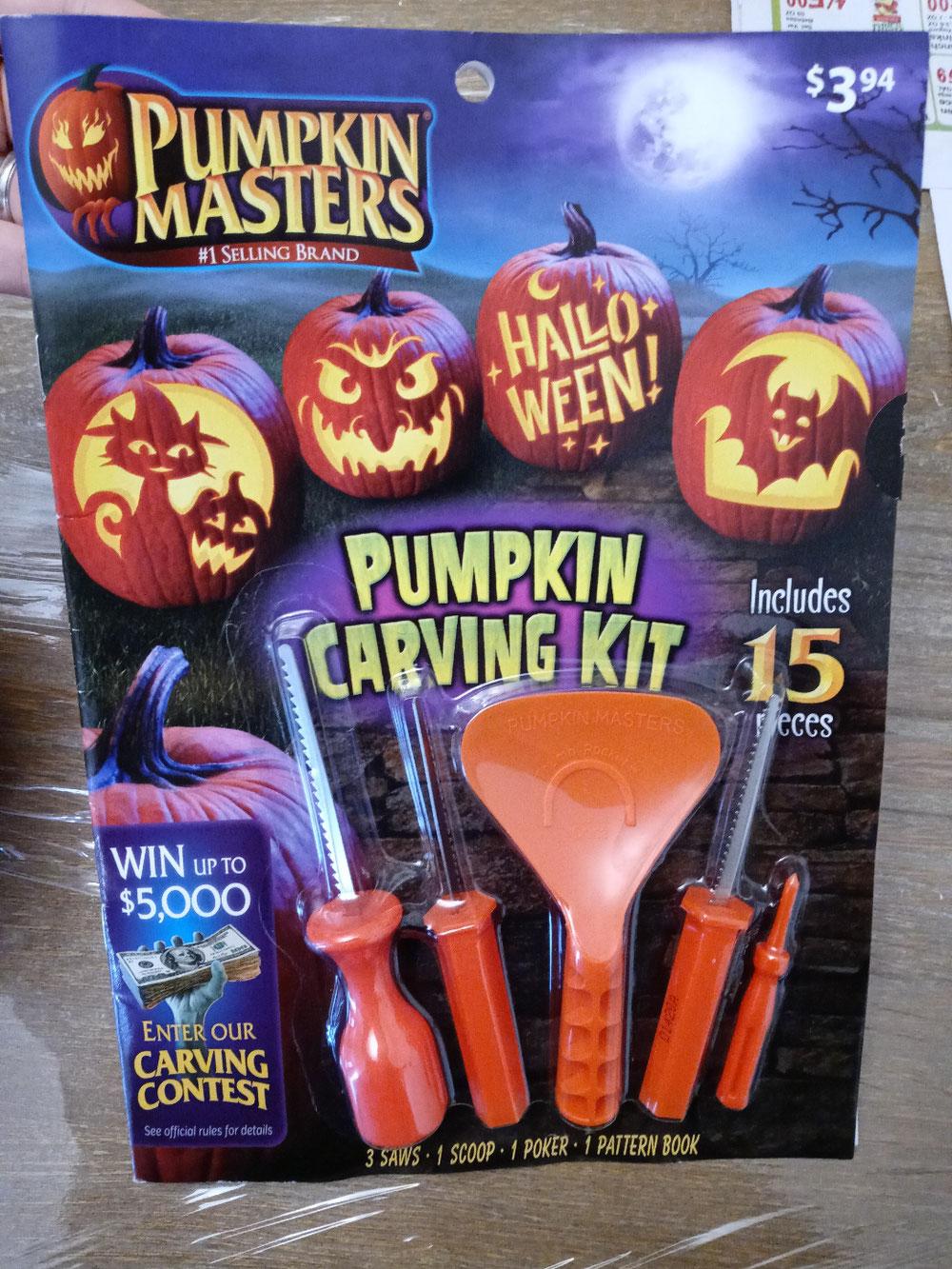 かぼちゃ、カービングキット🔪