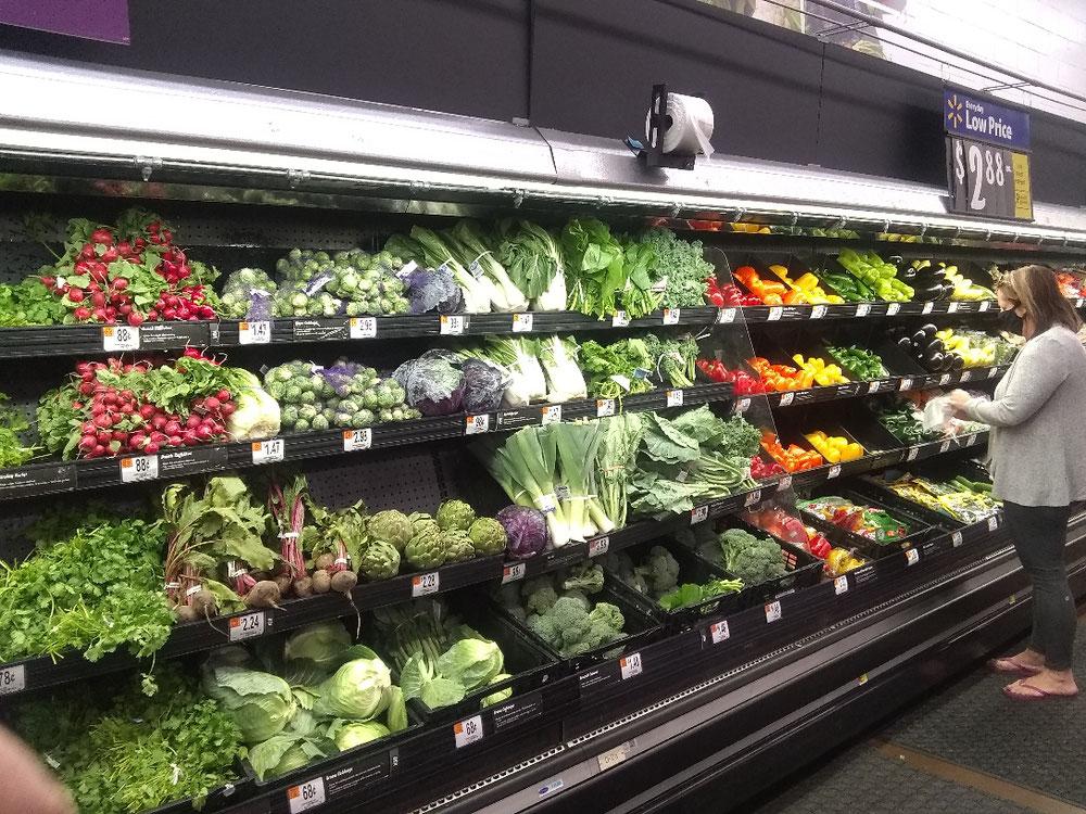 野菜のセクション