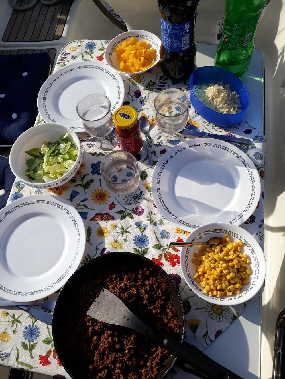 Dinner prepared